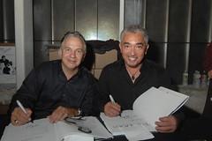 David Woo and Cesar Millan