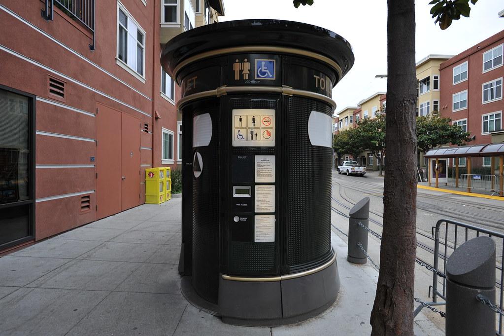 Public toilet on a street