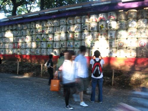 Prayer wheels at Meiji Shrine.