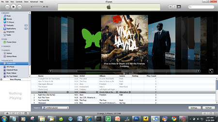 iTunes DJ Now Playing