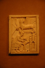 Ivory Plaque with the Evangelist Saint Mark an...