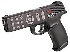 mando - gun;  remote control