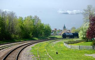 Railroad turning to Ottawa near Brockville