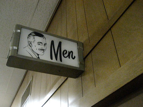 Coolest Men's Room Sign Ever!