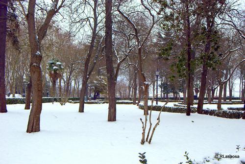 La Taconera con nieve en el invierno de 2010