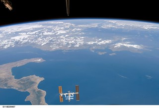 International Space Station Over Earth (NASA, ...
