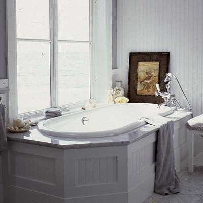beadboard bath Coastal Living