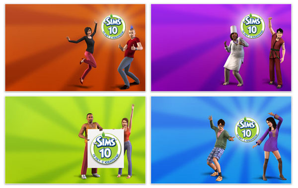 3/26/10 - 4 wallpapers from The Sims 3 Russia