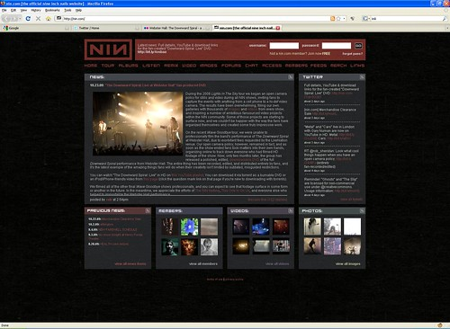 TDS:Live on the NIN.com homepage