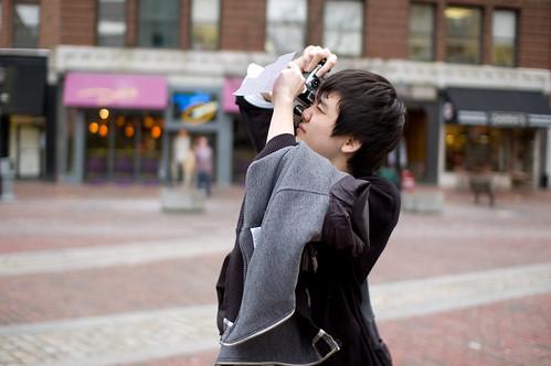 Camera, Jacket, Exposure Cheat Sheet, Bag...