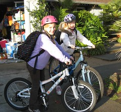 biking to school