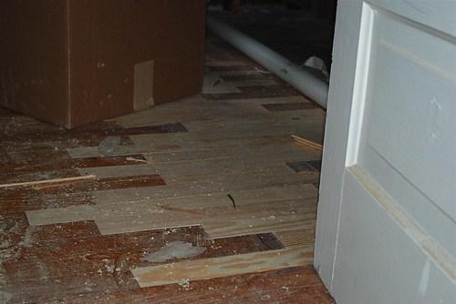 New pine flooring