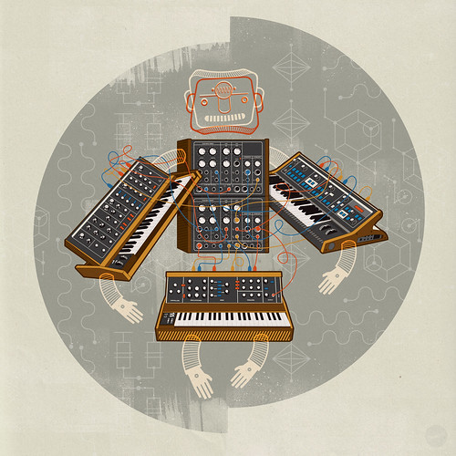 Moog Synth Robo-Man by Adam the Velcro Suit.