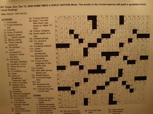 Puzzle:  Dec. 13, 2009