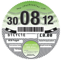 Picture of an old tax disc (no longer issued)