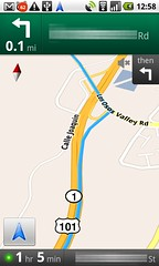 Nexus One, GMaps Navigation