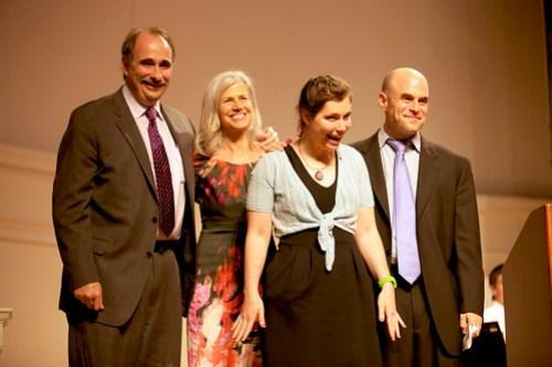 David Axelrod, Susan Axelrod, Lauren Axelrod and Peter Sagal
