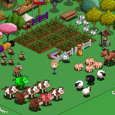 Image of a players avatar in Farmville