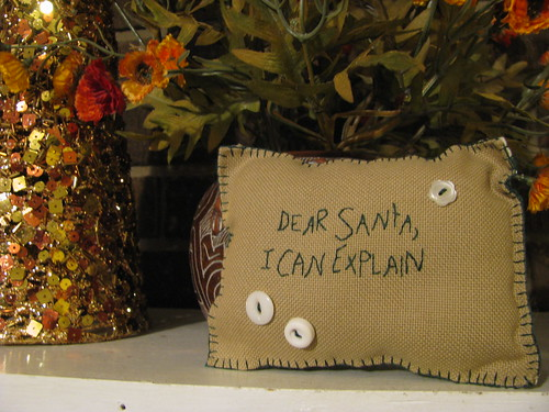 """Dear Santa"" Pillow"