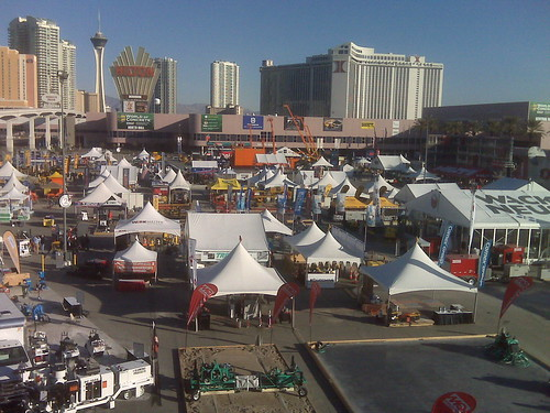 Outside exhibits at the World of Concrete
