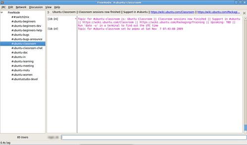 Ubuntu Classroom on IRC