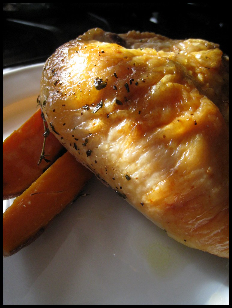 Roast Chicken and Sweet Potatoes