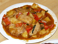 sweet and sour pork chop