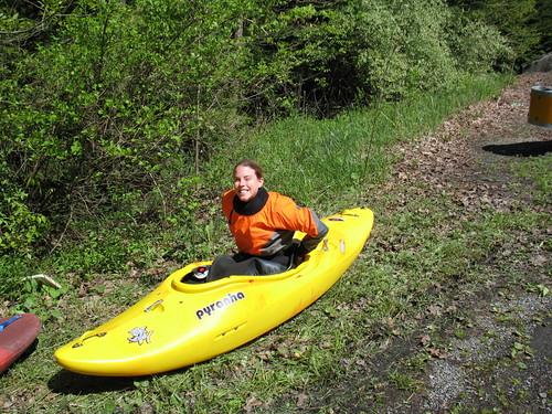 Kelly in Kayak