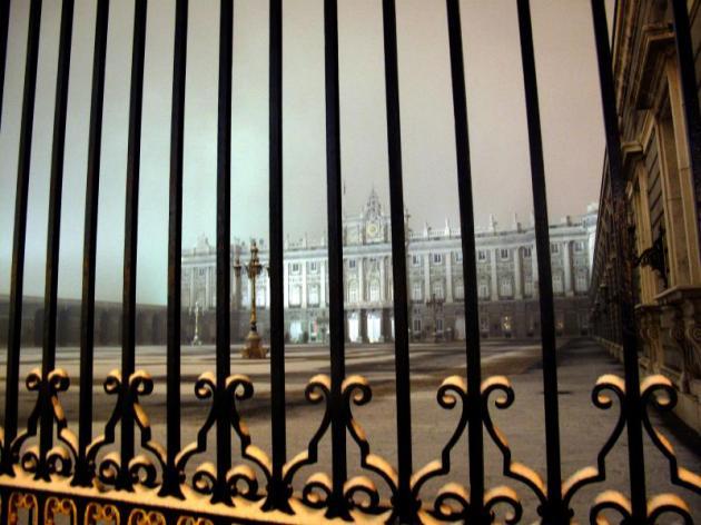 Palacio Real enrejado