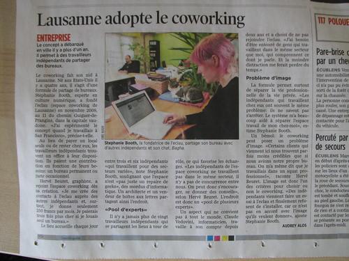 Lausanne adopte le coworking (eclau, 24 heures)