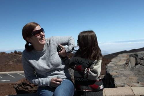 Tanie & Sym on Haleakala Summit