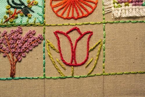 39 Squares: Tulip