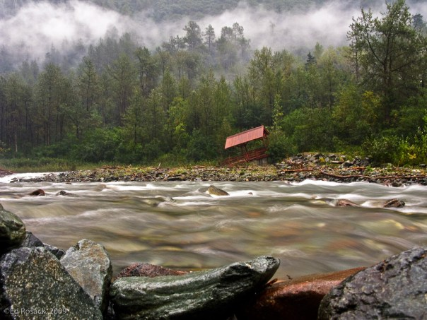 The gold panning creek in Juneau, Alaska