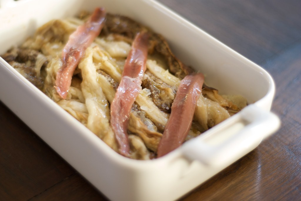 berenjenas con anchoas serrat
