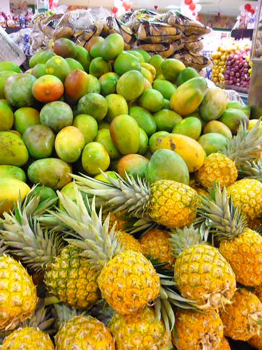 Pine apples and mangoes