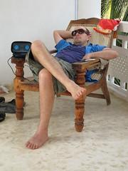 David relaxin' in Unawatuna