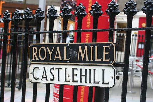 Castlehill sign, Royal Mile, Edinburgh