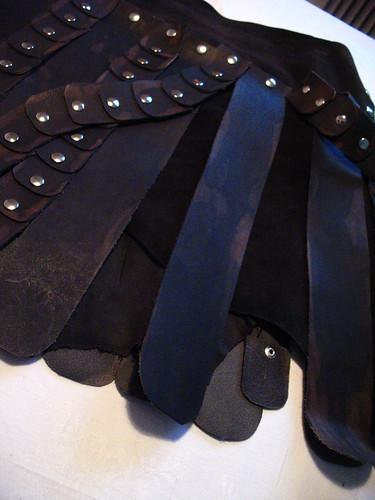 xena skirt - long stips of leather