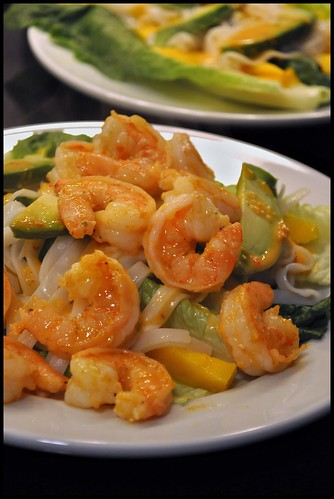 Spicy Shrimp Avocado and Mango