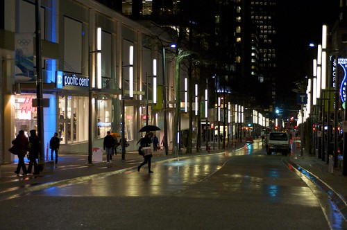 Granville Street with new lights