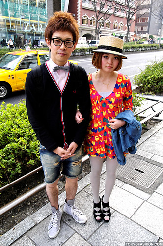 Bow Tie & Hat in Harajuku