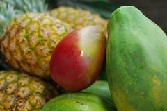 Three fruit together