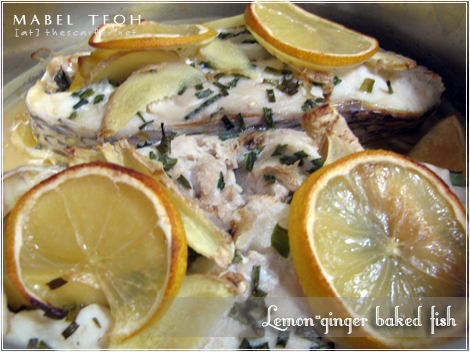 Lemon-ginger baked fish