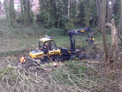 Clearing West Didsbury branch line