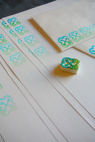tile-inspired eraser stamp