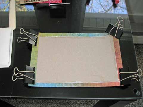 decorative paper added