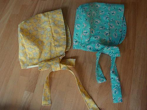 Bonnets using Amy Karol pattern