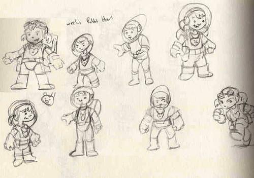 Damians rabbit-heart-quick-sketches 2
