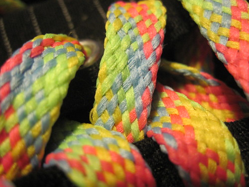 my new shoelaces (detail)