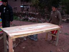 Building a comedor, Paucabamba
